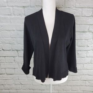 89th & Madison Open Front Cardigan 3/4 Sleeves